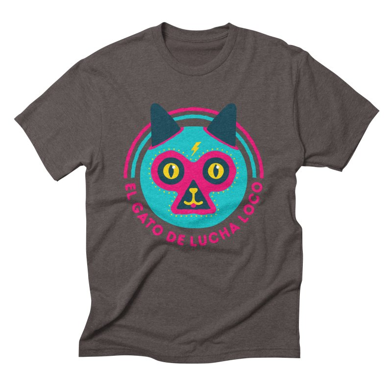 Luchadorable Men's Triblend T-Shirt by Quick Brown Fox