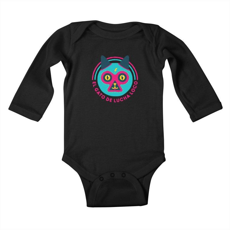 Luchadorable Kids Baby Longsleeve Bodysuit by Quick Brown Fox