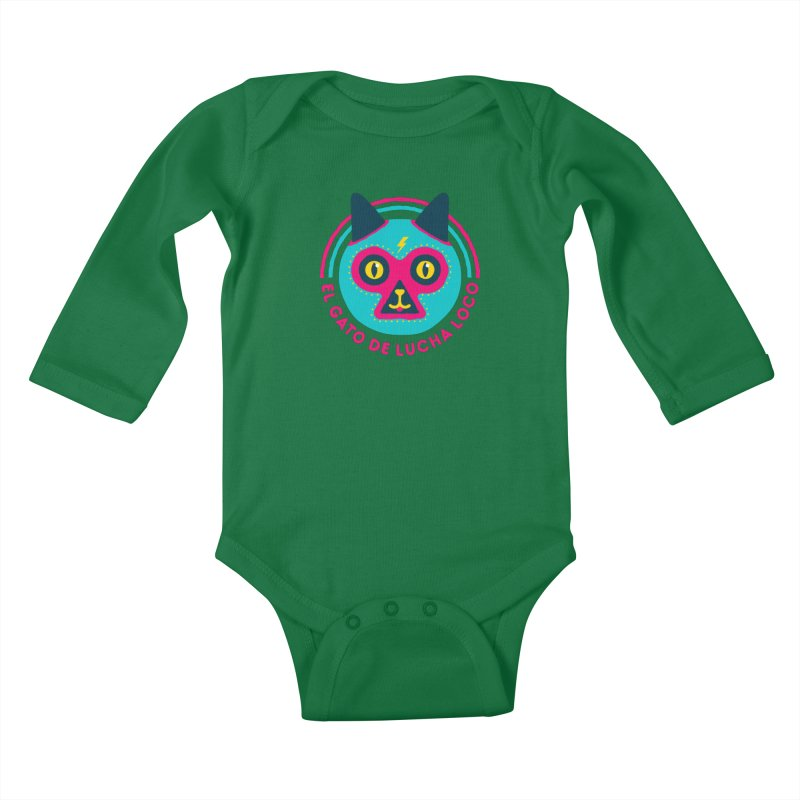 Luchadorable Kids Baby Longsleeve Bodysuit by Quick Brown Fox