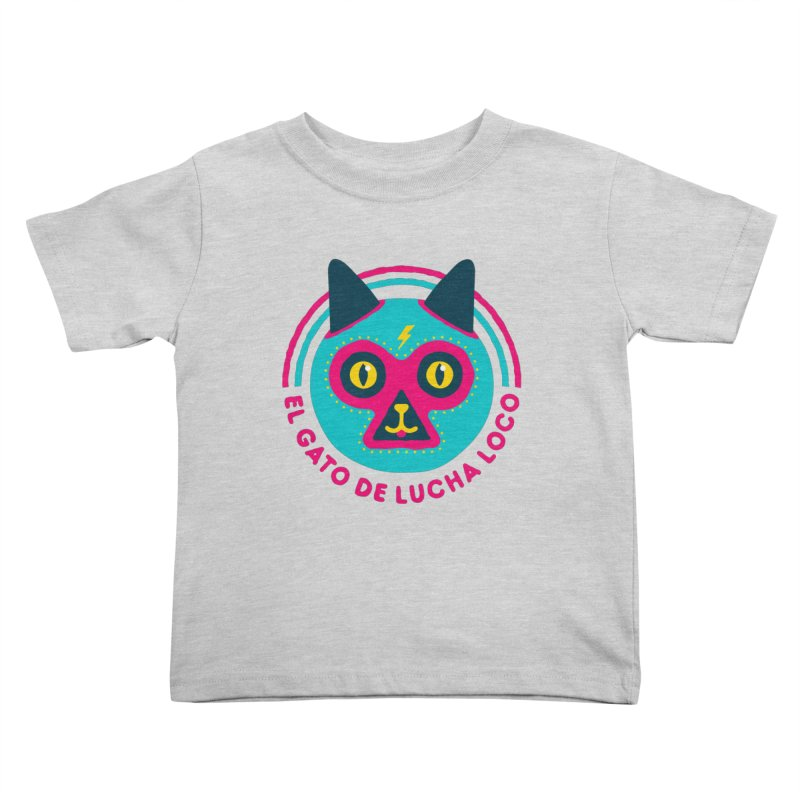 Luchadorable Kids Toddler T-Shirt by Quick Brown Fox