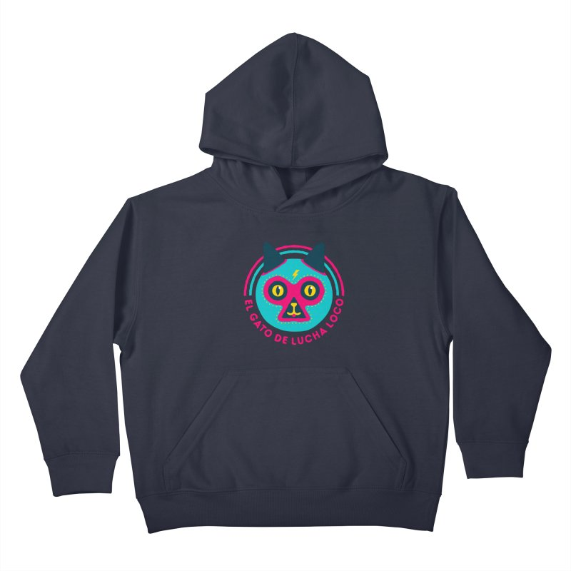 Luchadorable Kids Pullover Hoody by Quick Brown Fox