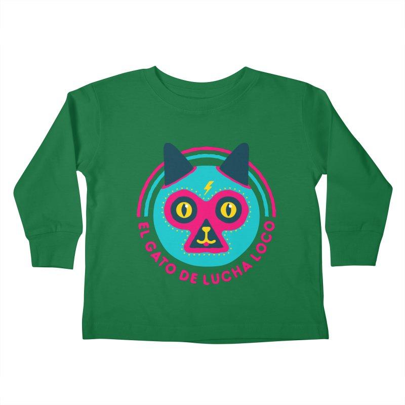 Luchadorable Kids Toddler Longsleeve T-Shirt by Quick Brown Fox