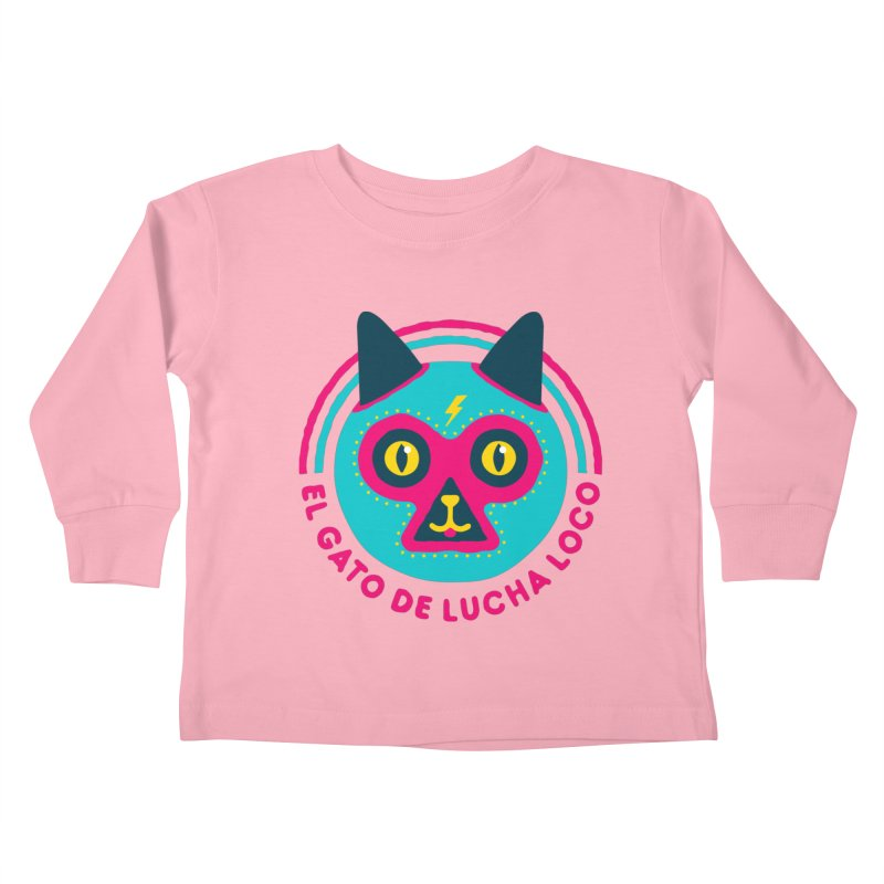 Luchadorable Kids Toddler Longsleeve T-Shirt by Quick Brown Fox