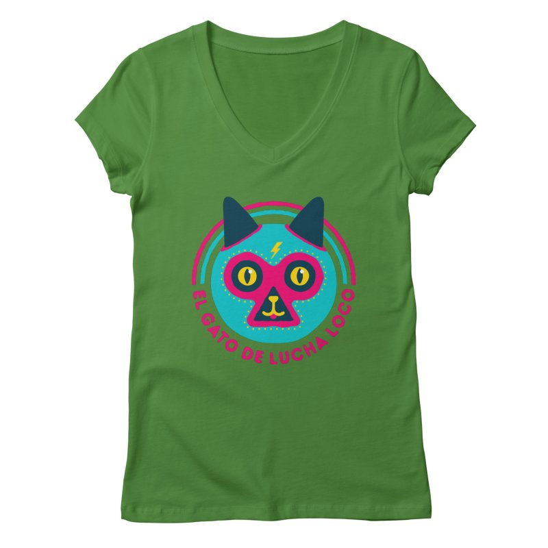Luchadorable Women's V-Neck by Quick Brown Fox