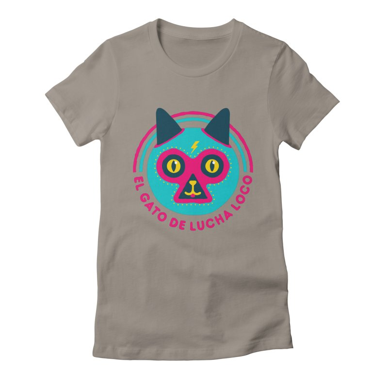 Luchadorable Women's Fitted T-Shirt by Quick Brown Fox