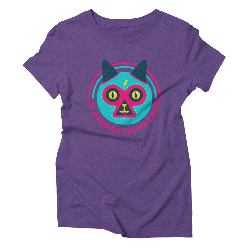 Luchadorable Women's Triblend T-shirt by Quick Brown Fox