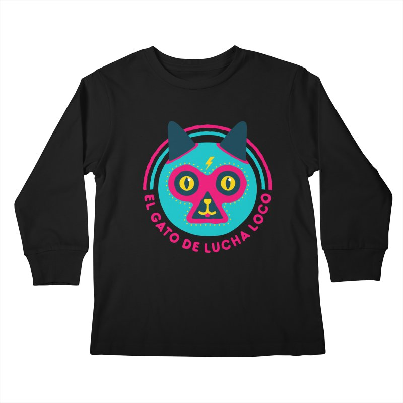 Luchadorable Kids Longsleeve T-Shirt by Quick Brown Fox