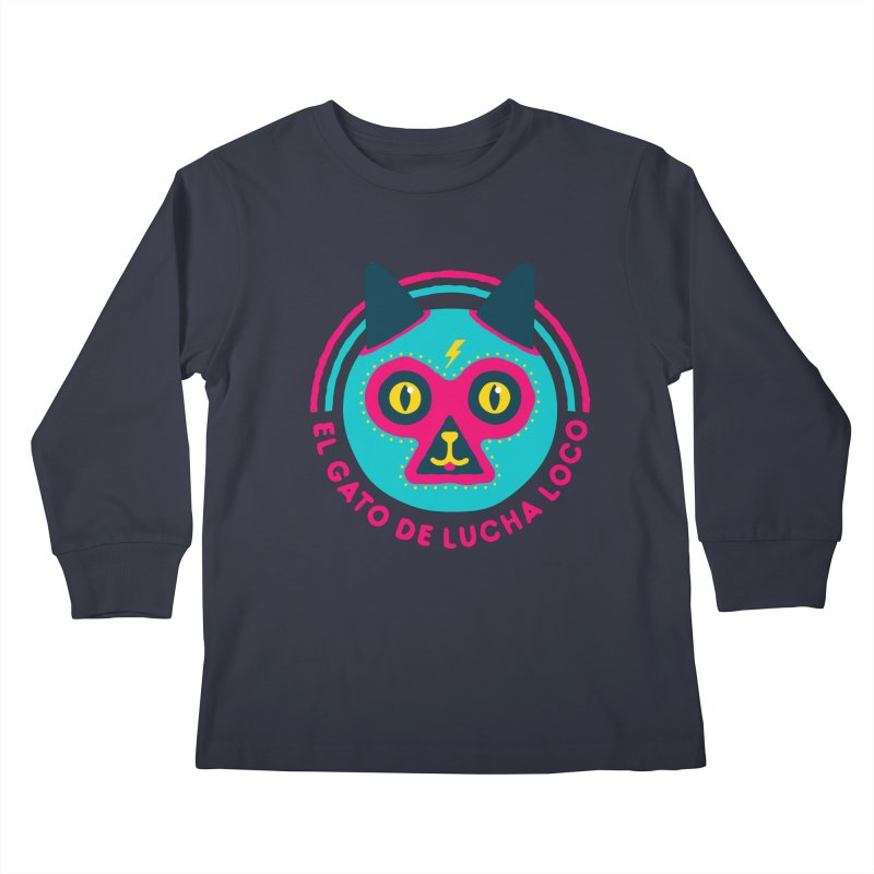Luchadorable Kids Longsleeve T-Shirt by Quick Brown Fox