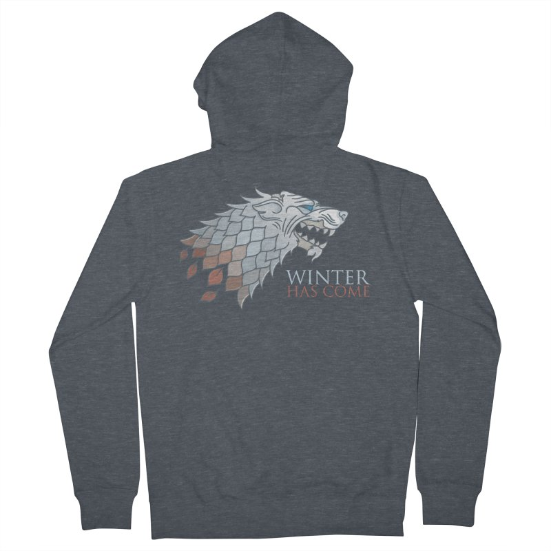 Winter Has Come Men's Zip-Up Hoody by Quick Brown Fox