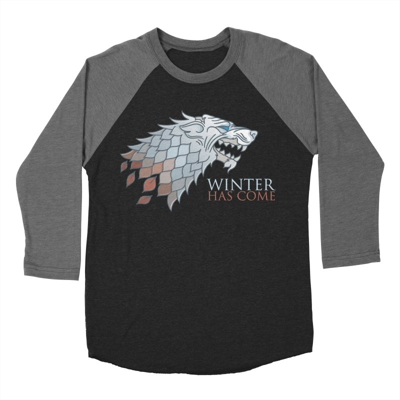 Winter Has Come Men's Baseball Triblend T-Shirt by Quick Brown Fox