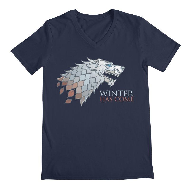 Winter Has Come Men's V-Neck by Quick Brown Fox