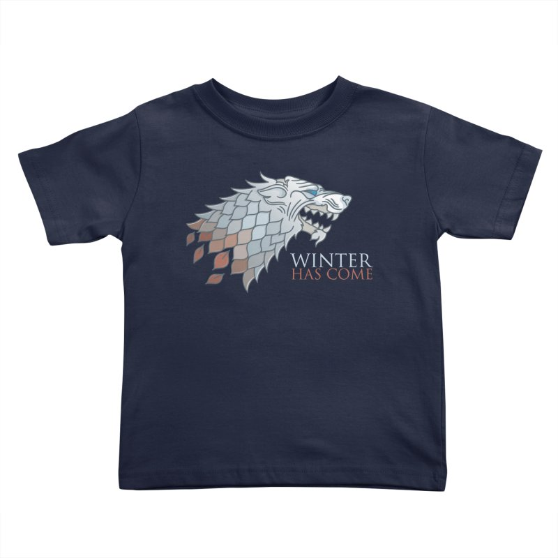 Winter Has Come Kids Toddler T-Shirt by Quick Brown Fox