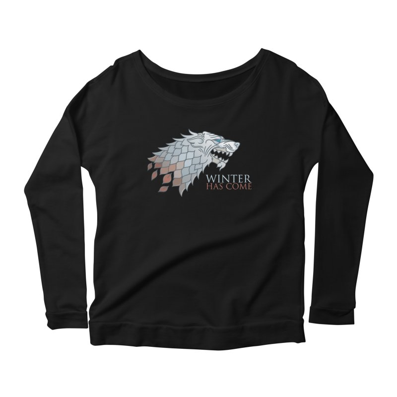 Winter Has Come Women's Longsleeve Scoopneck  by Quick Brown Fox