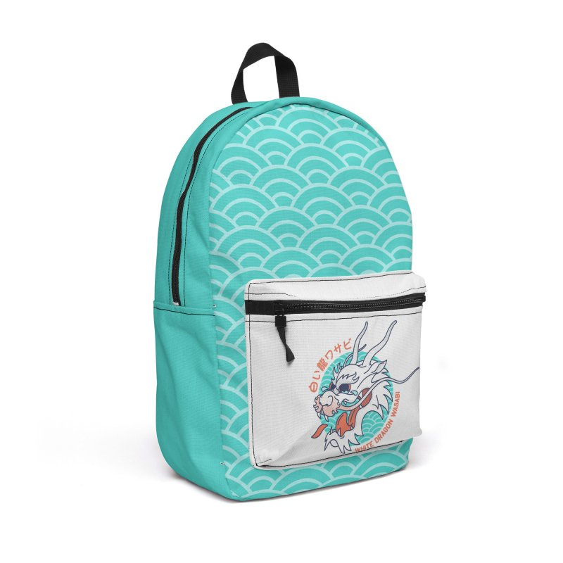 White Dragon Wasabi Accessories Backpack Bag by Quick Brown Fox
