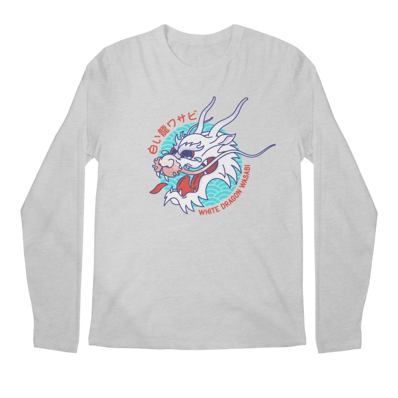 White Dragon Wasabi Men's Regular Longsleeve T-Shirt by Quick Brown Fox