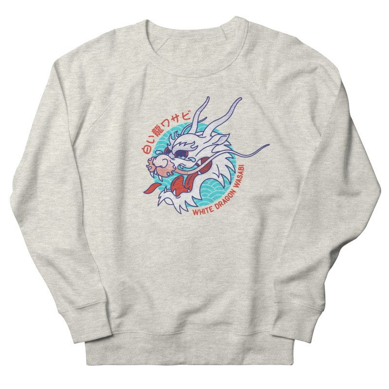 White Dragon Wasabi Men's Sweatshirt by Quick Brown Fox