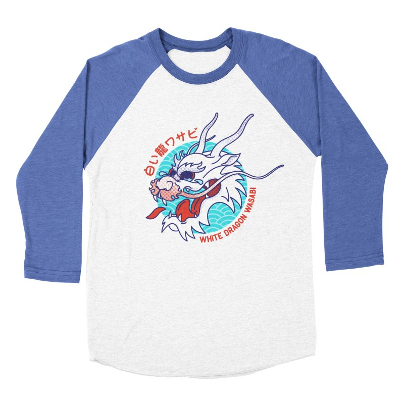 White Dragon Wasabi Women's Baseball Triblend Longsleeve T-Shirt by Quick Brown Fox