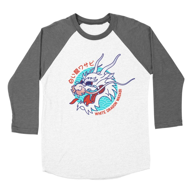 White Dragon Wasabi Women's Baseball Triblend T-Shirt by Quick Brown Fox