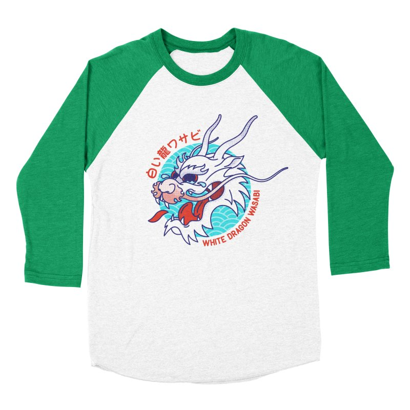 White Dragon Wasabi Women's Baseball Triblend Longsleeve T-Shirt by Quick Brown Fox