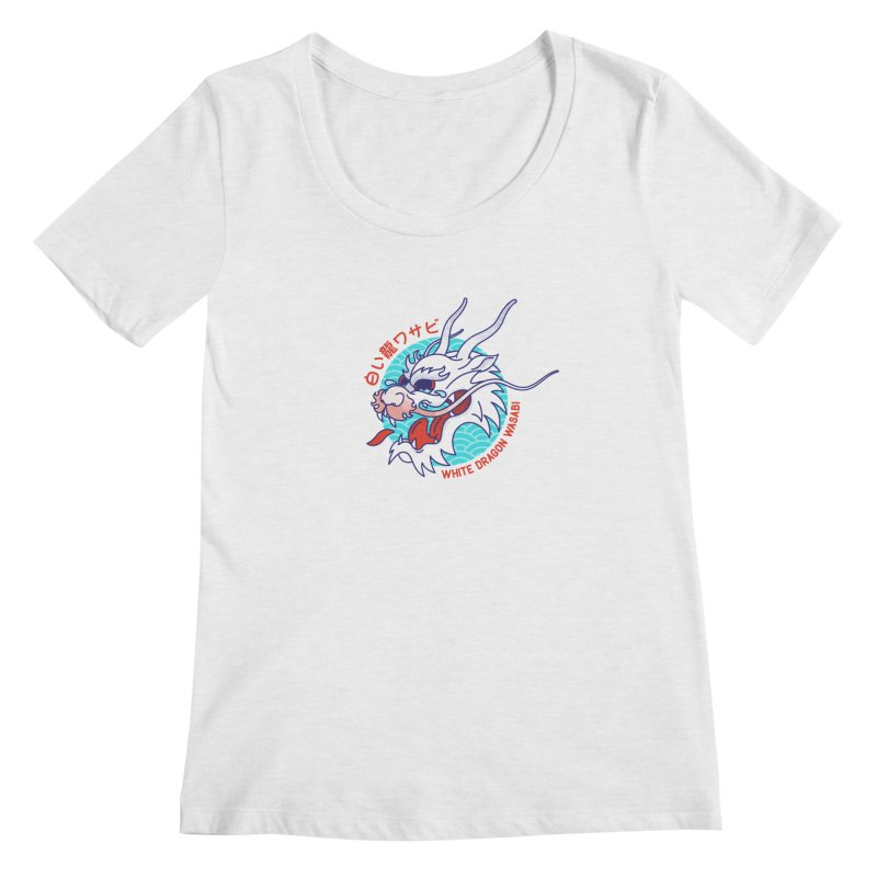 White Dragon Wasabi Women's Scoopneck by Quick Brown Fox