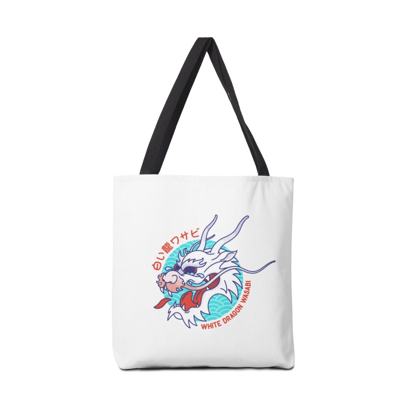 White Dragon Wasabi Accessories Tote Bag Bag by Quick Brown Fox