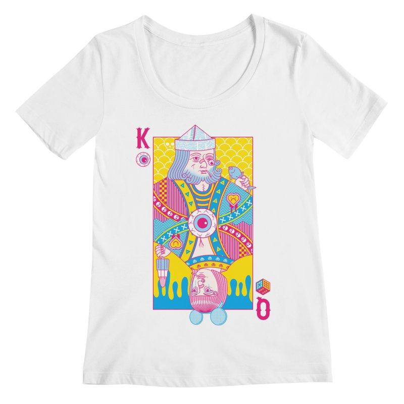 King of Nothing, Queen of Nowhere Women's Regular Scoop Neck by Quick Brown Fox