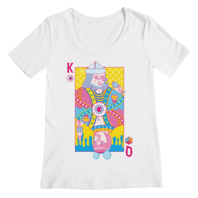 King of Nothing, Queen of Nowhere Women's Scoopneck by Quick Brown Fox