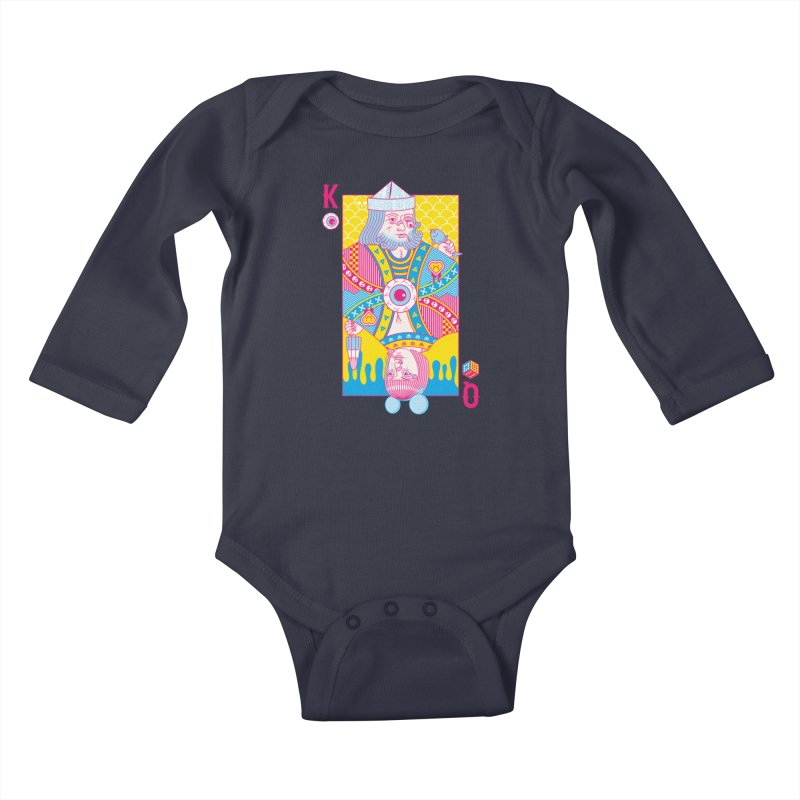 King of Nothing, Queen of Nowhere Kids Baby Longsleeve Bodysuit by Quick Brown Fox