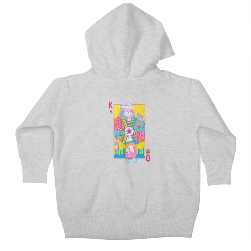 King of Nothing, Queen of Nowhere Kids Baby Zip-Up Hoody by Quick Brown Fox