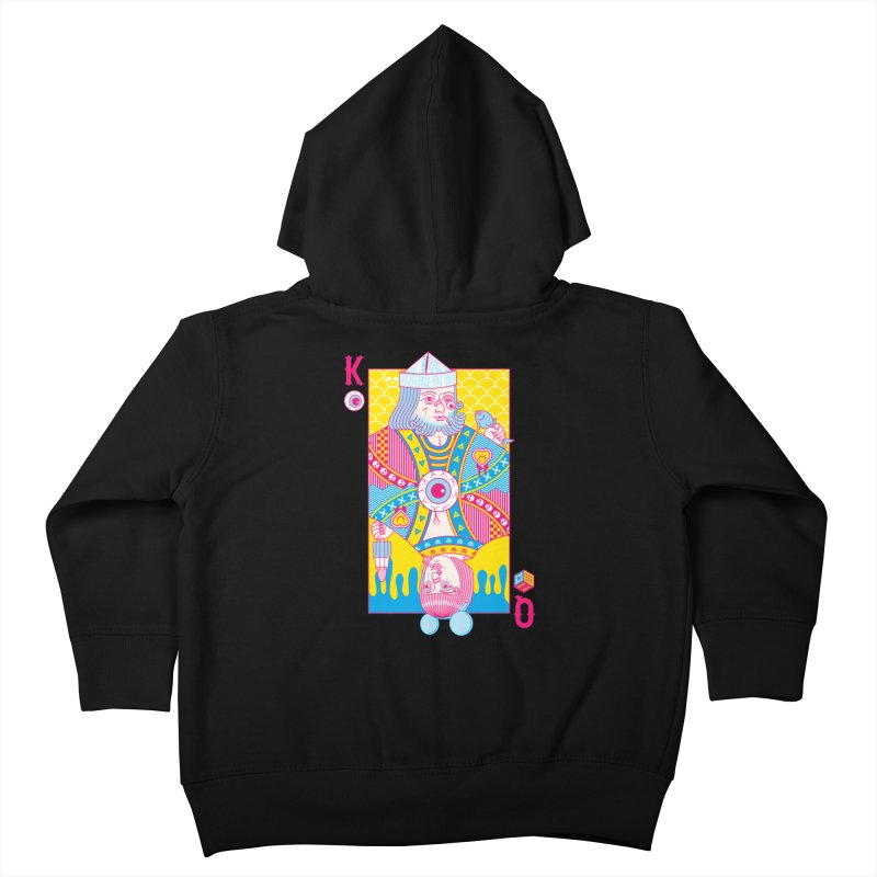 King of Nothing, Queen of Nowhere Kids Toddler Zip-Up Hoody by Quick Brown Fox