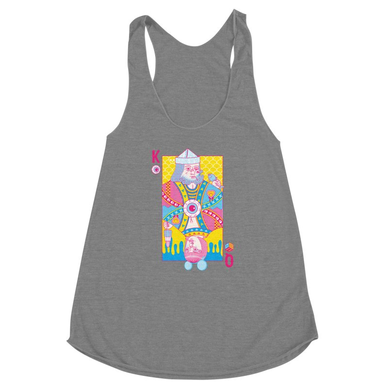 King of Nothing, Queen of Nowhere Women's Racerback Triblend Tank by Quick Brown Fox