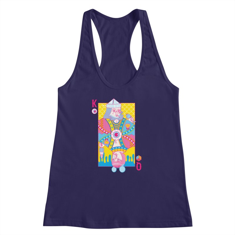 King of Nothing, Queen of Nowhere Women's Racerback Tank by Quick Brown Fox