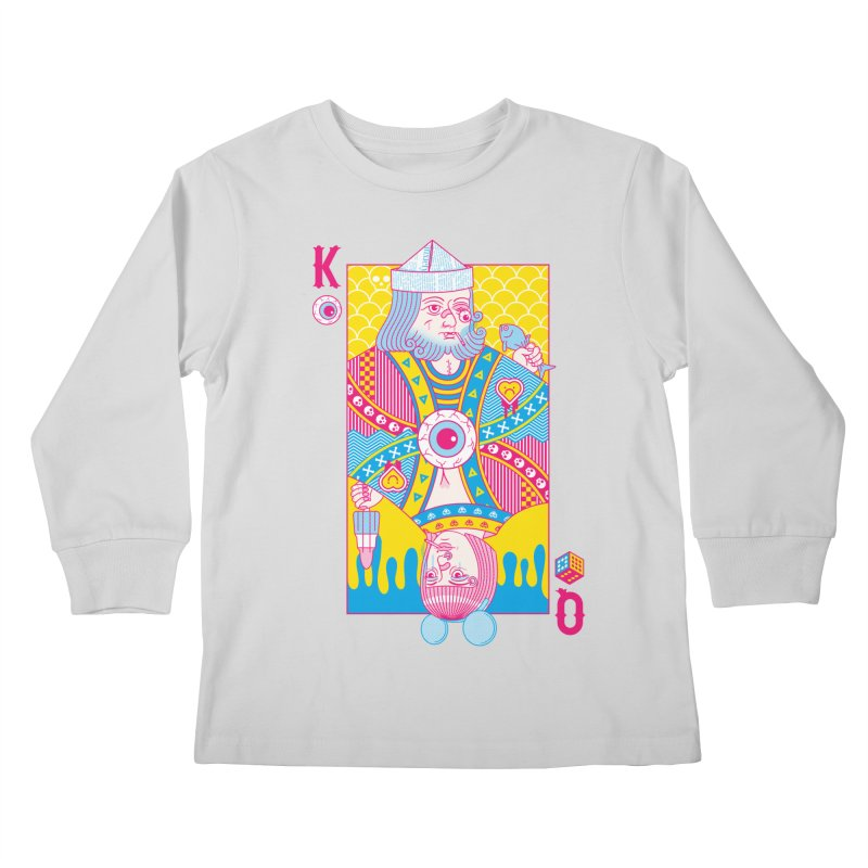 King of Nothing, Queen of Nowhere Kids Longsleeve T-Shirt by Quick Brown Fox
