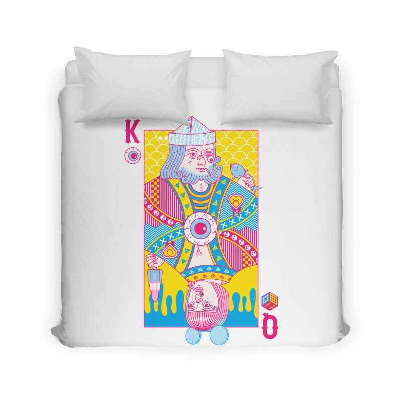 King of Nothing, Queen of Nowhere Home Duvet by Quick Brown Fox