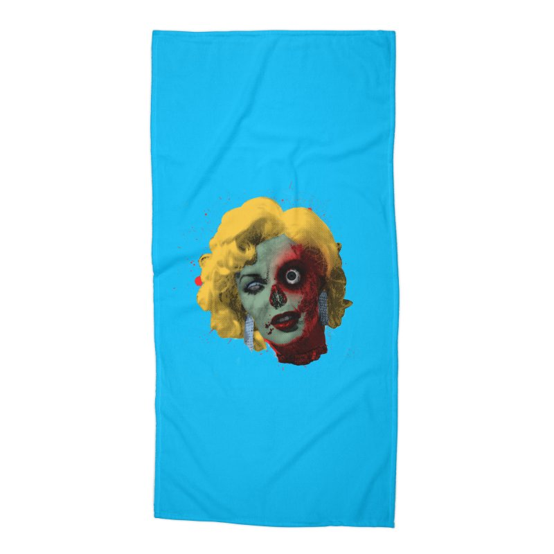 Gentlemen Prefer Zombs Accessories Beach Towel by Quick Brown Fox