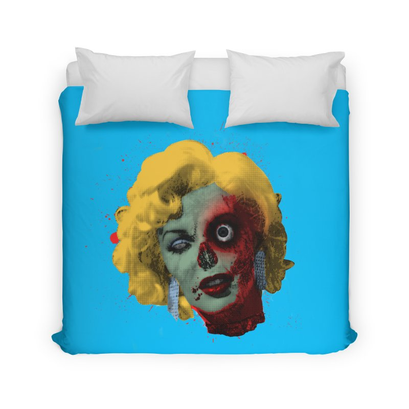 Gentlemen Prefer Zombs Home Duvet by Quick Brown Fox