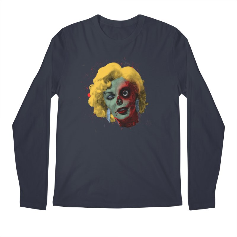 Gentlemen Prefer Zombs Men's Regular Longsleeve T-Shirt by Quick Brown Fox