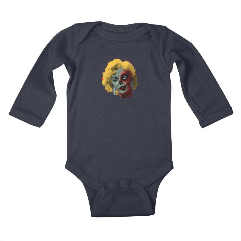 Gentlemen Prefer Zombs Kids Baby Longsleeve Bodysuit by Quick Brown Fox