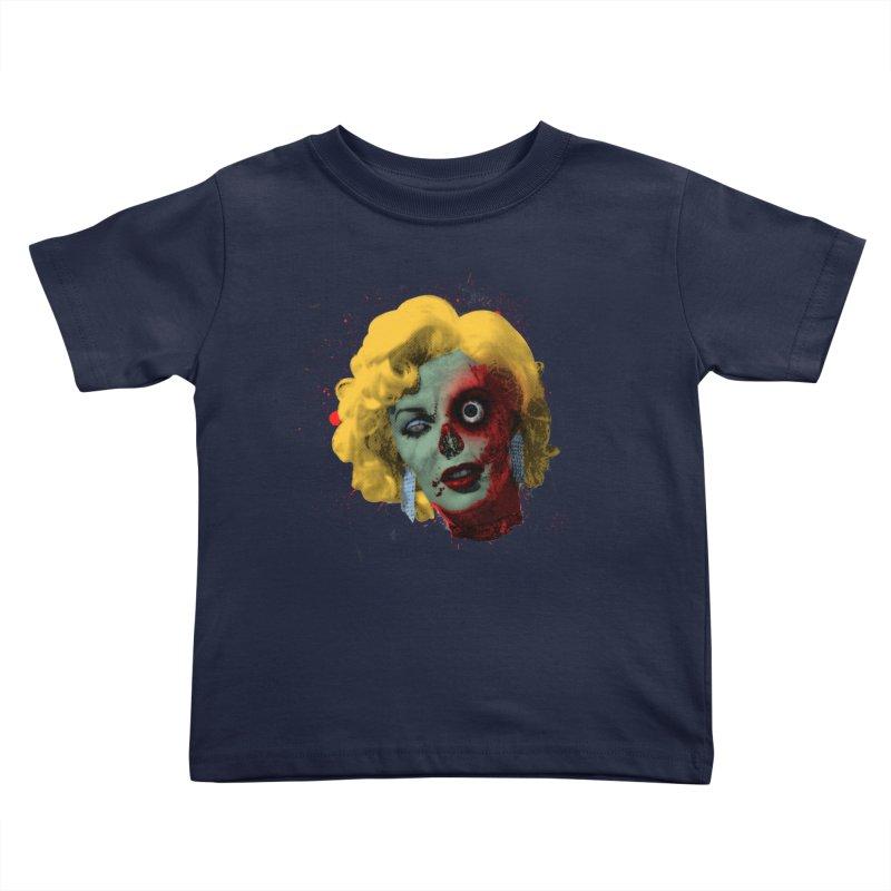 Gentlemen Prefer Zombs Kids Toddler T-Shirt by Quick Brown Fox