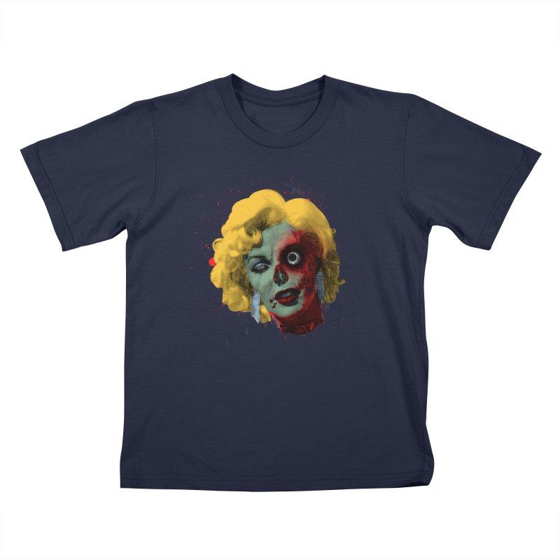Gentlemen Prefer Zombs Kids T-Shirt by Quick Brown Fox