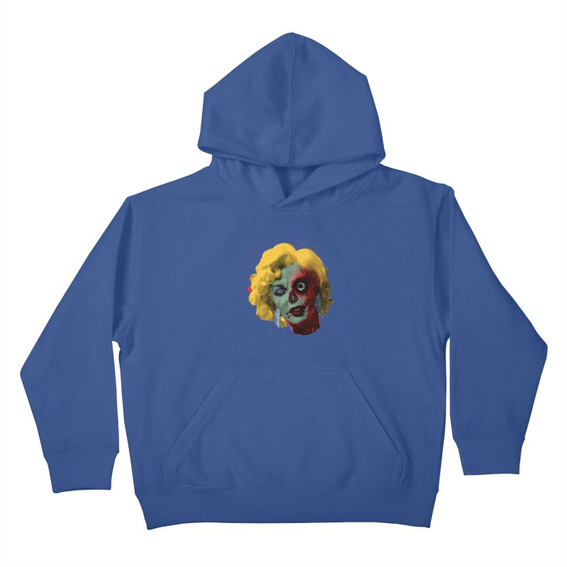 Gentlemen Prefer Zombs Kids Pullover Hoody by Quick Brown Fox