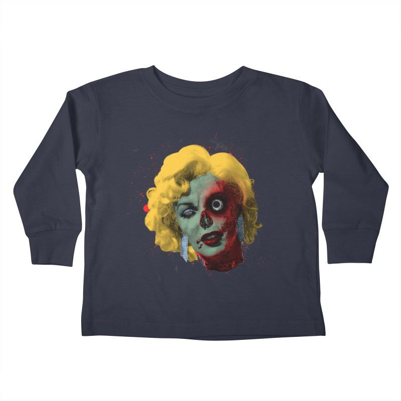 Gentlemen Prefer Zombs Kids Toddler Longsleeve T-Shirt by Quick Brown Fox
