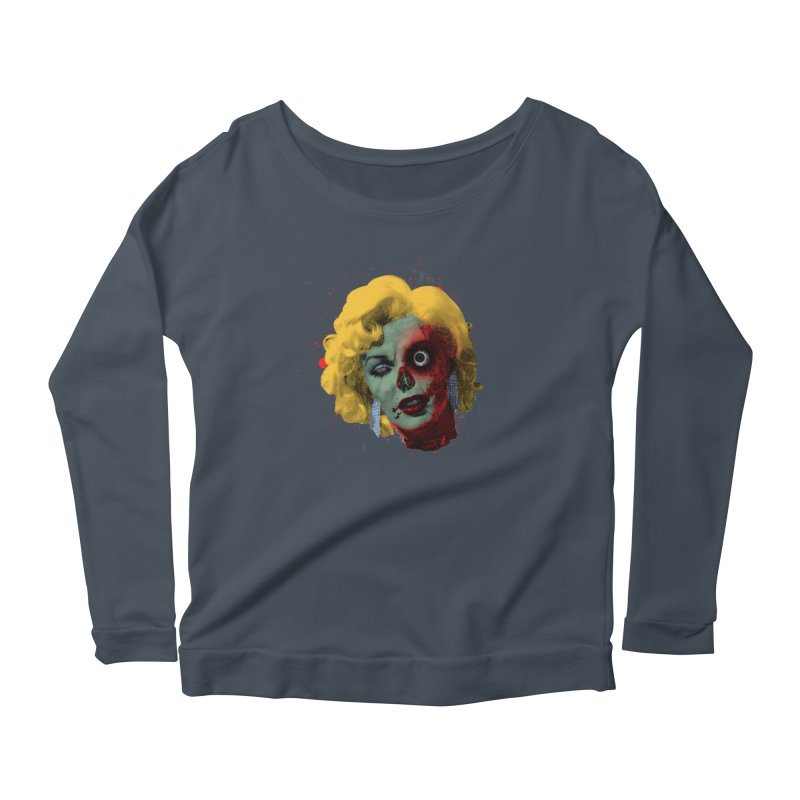 Gentlemen Prefer Zombs Women's Longsleeve Scoopneck  by Quick Brown Fox