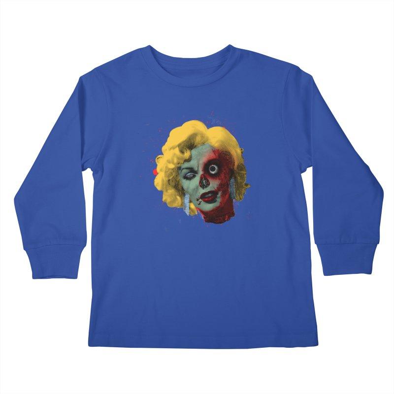 Gentlemen Prefer Zombs Kids Longsleeve T-Shirt by Quick Brown Fox