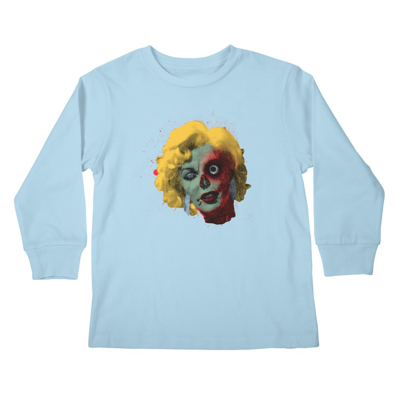 Gentlemen Prefer Zombs Kids Longsleeve T-Shirt by Quick Brown Fox