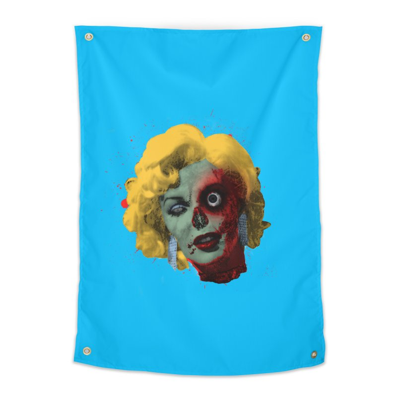 Gentlemen Prefer Zombs Home Tapestry by Quick Brown Fox