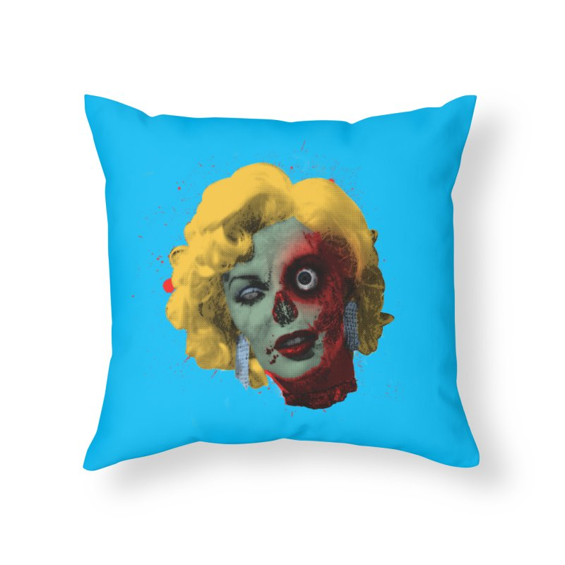 Gentlemen Prefer Zombs Home Throw Pillow by Quick Brown Fox