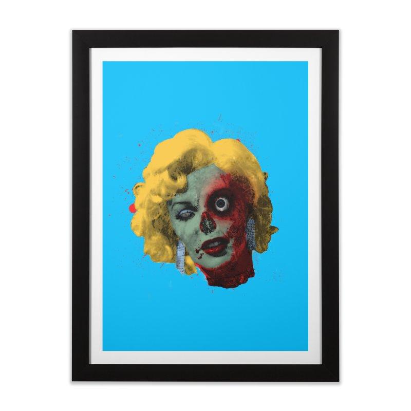 Gentlemen Prefer Zombs Home Framed Fine Art Print by Quick Brown Fox