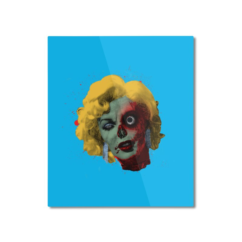 Gentlemen Prefer Zombs Home Mounted Aluminum Print by Quick Brown Fox