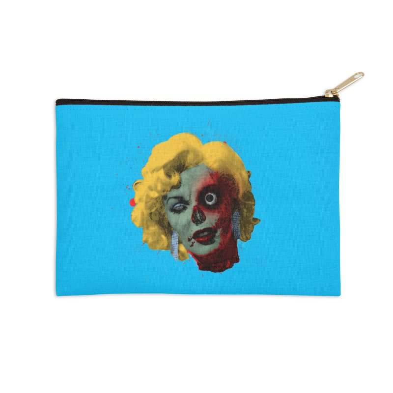Gentlemen Prefer Zombs Accessories Zip Pouch by Quick Brown Fox
